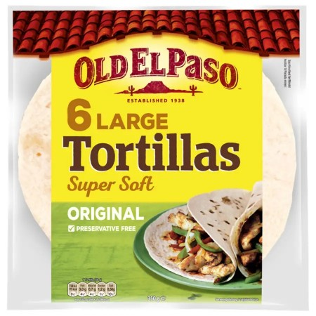 Old El Paso 6  Large Tortillas