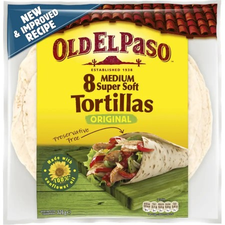Old El Paso 8 Medium Tortillas