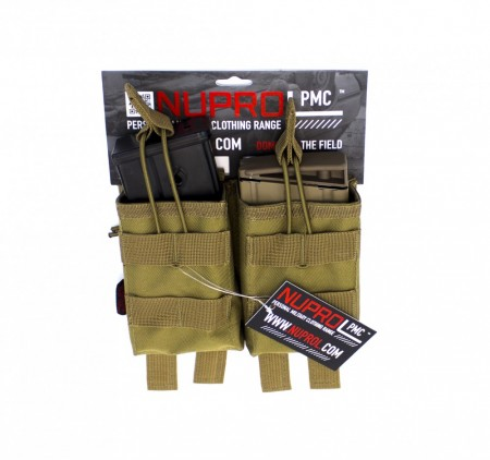 Nuprol G36 Double Open Mag Pouch Tan